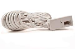 Câble d'extension de téléphone. Photo stock