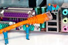 Câble d'Internet de réseau informatique Photo libre de droits