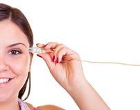 Câble d'USB et tête humaine image libre de droits