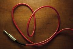 Câble de coeur Photo libre de droits