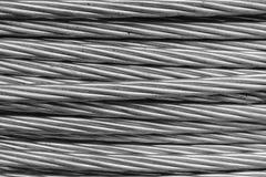Câble de corde de fil d'acier Photographie stock