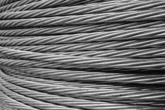 Câble de corde de fil d'acier Photo libre de droits