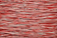 Câble de cuivre rouge et blanc Image libre de droits