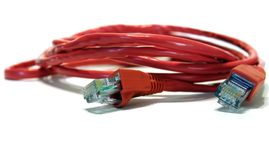 Câble de données de croisement de l'ordinateur Rj45 Photographie stock