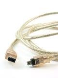 Câble de DV Photographie stock libre de droits