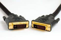 Câble de Dvi Photos stock