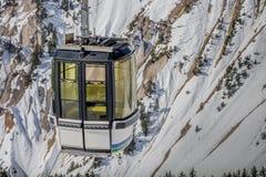 Câble de montagne dans les Alpes Photographie stock libre de droits