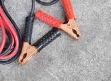 Câble de pullover de batterie de voiture Images libres de droits
