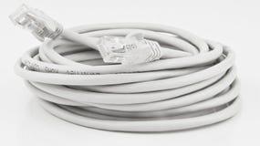 Câble de réseau enroulé vers le haut Photos libres de droits