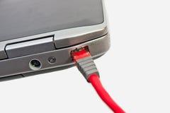 Câble de réseau informatique Photo libre de droits