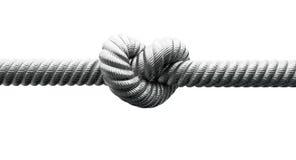 Câble en acier avec le plan rapproché de noeud images stock