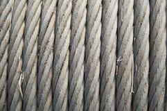 Câble en acier enroulé photographie stock libre de droits