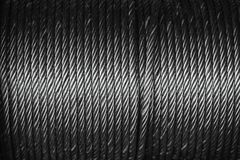 Câble en acier ou corde en acier au tambour de bride de corde Photo libre de droits