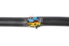 Câble endommagé Photographie stock
