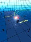 Câble et approvisionnement à l'extérieur de gestion de réseau Image libre de droits