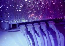 Câble et pivot de réseau Photos libres de droits