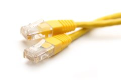 Câble Ethernet Image stock