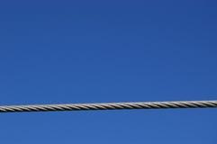 Câble métallique Photographie stock libre de droits