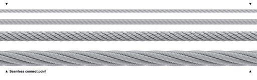 Câble métallique qu'on peut répéter de câble d'acier sans couture illustration stock
