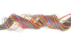 Câble multicolore d'ordinateur Photographie stock