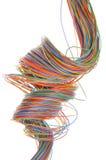Câble multicolore d'ordinateur Image libre de droits