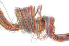 Câble multicolore d'ordinateur Photos libres de droits
