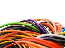 Câble multicolore d'ordinateur Images stock