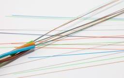 Câble optique de fibre Photo stock