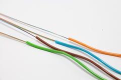 Câble optique de fibre Photo libre de droits
