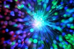 Câble optique de réseau de fibre Photos stock
