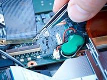 Câble plat de réparation de cahier image stock