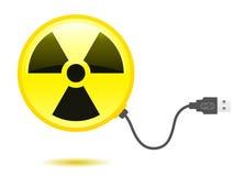 Câble radioactif lustré d'USB de graphisme Images libres de droits