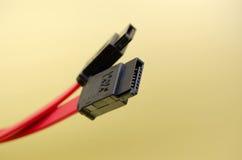 câble S-ATA d'ordinateur Photographie stock libre de droits