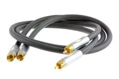 Câble sonore : Connecteur de RCA (connecteur de Phono/sous-ventrière Photographie stock libre de droits
