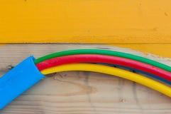 Câble sur le tambour de câble Image stock