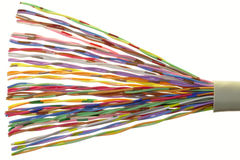 Câble téléphonique Photo stock