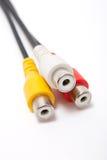 câble triphasé de Sonore-vidéo Photos libres de droits
