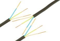 Câble trois électrique Photo libre de droits
