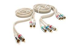 Câble visuel et sonore photo stock