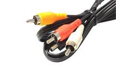 Câble visuel sonore Photo libre de droits