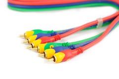 Câble visuel sonore Images libres de droits