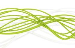 Câbles à fibres optiques Photo stock