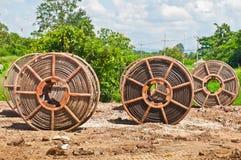 Câbles à haute tension Photographie stock