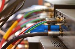 Câbles à la maison de salle de cinéma Photos stock