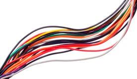 Câbles électriques colorés Images libres de droits