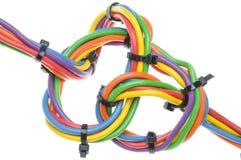Câbles électriques colorés Images stock