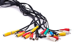 Câbles avec des connecteurs de câble Photos stock