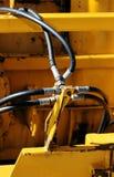 Câbles avec le matériel de construction Photographie stock