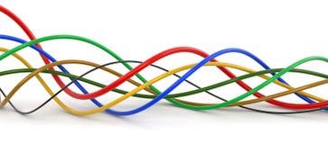 Câbles colorés Photos libres de droits