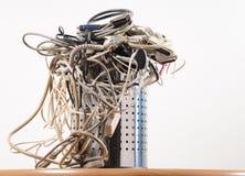 Câbles. concept de confusion Photographie stock libre de droits